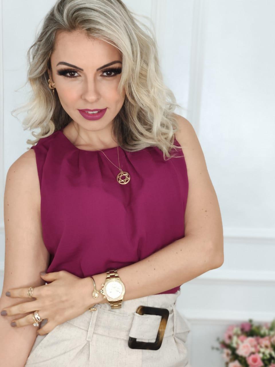 Blusa Regata Lisa Roxa
