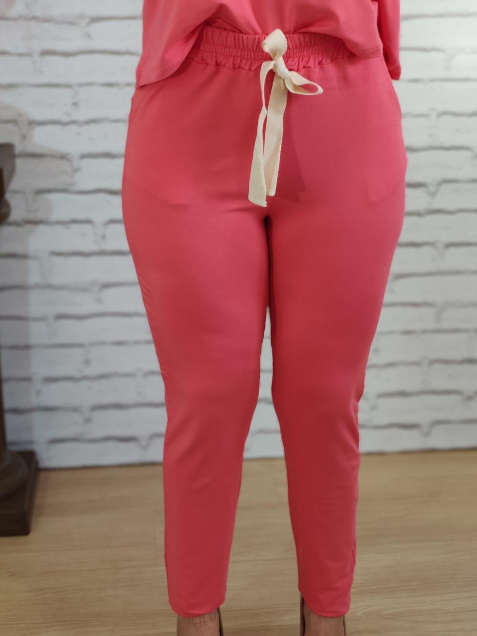 Calça Conjunto Liso Rosa