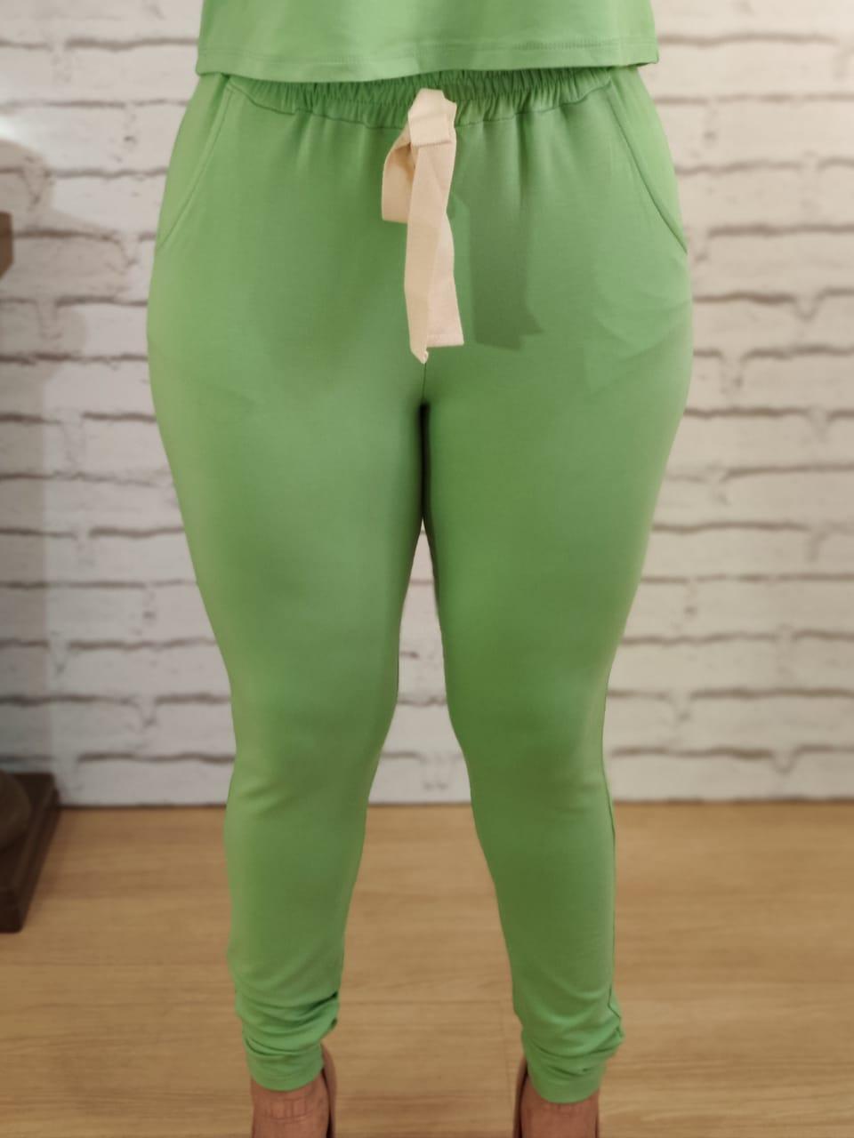 Calça Conjunto Liso Verde