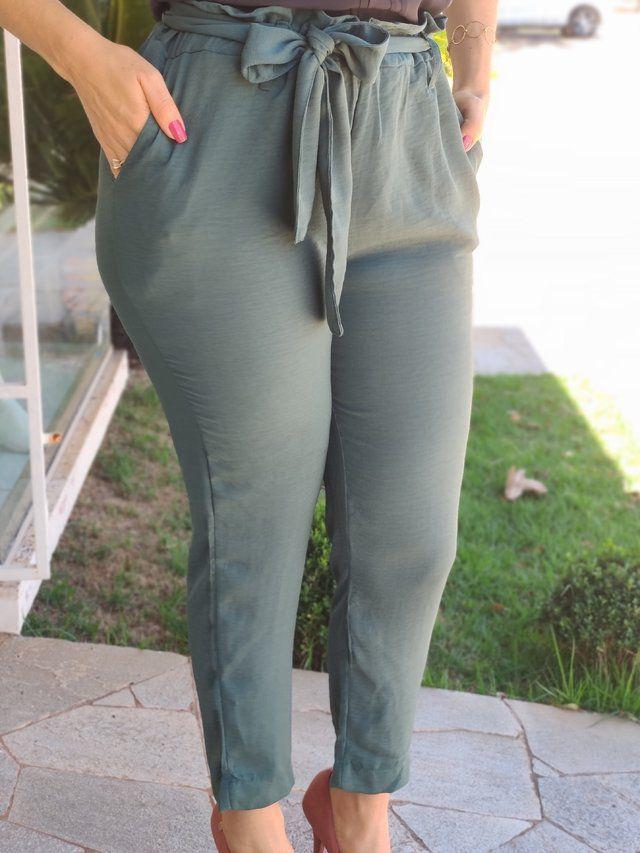 Calça Skinny Clochard Verde
