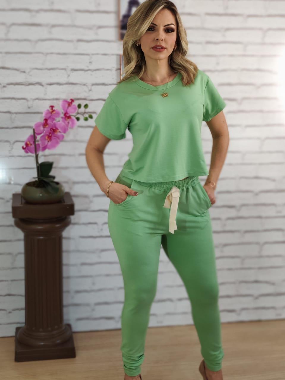 Conjunto Calça Liso Verde