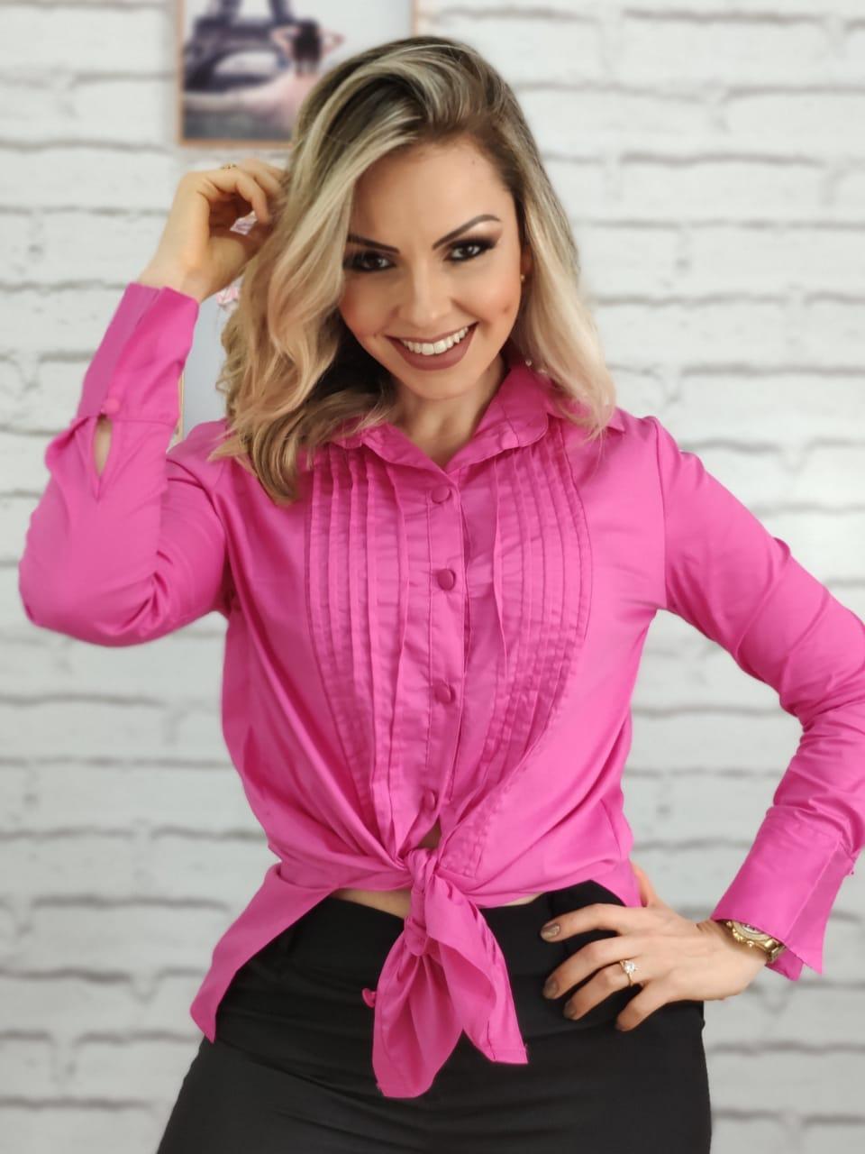 Max Camisa Manga Longa Pink