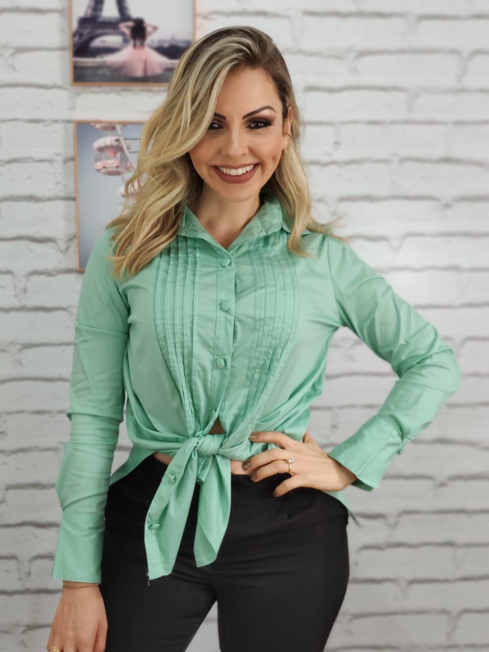 Max Camisa Manga Longa Verde