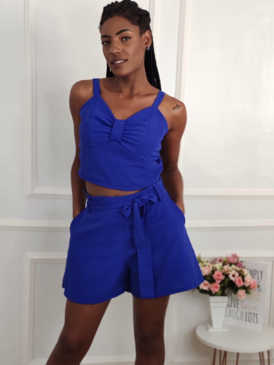 Shorts Bolsos Faca Azul