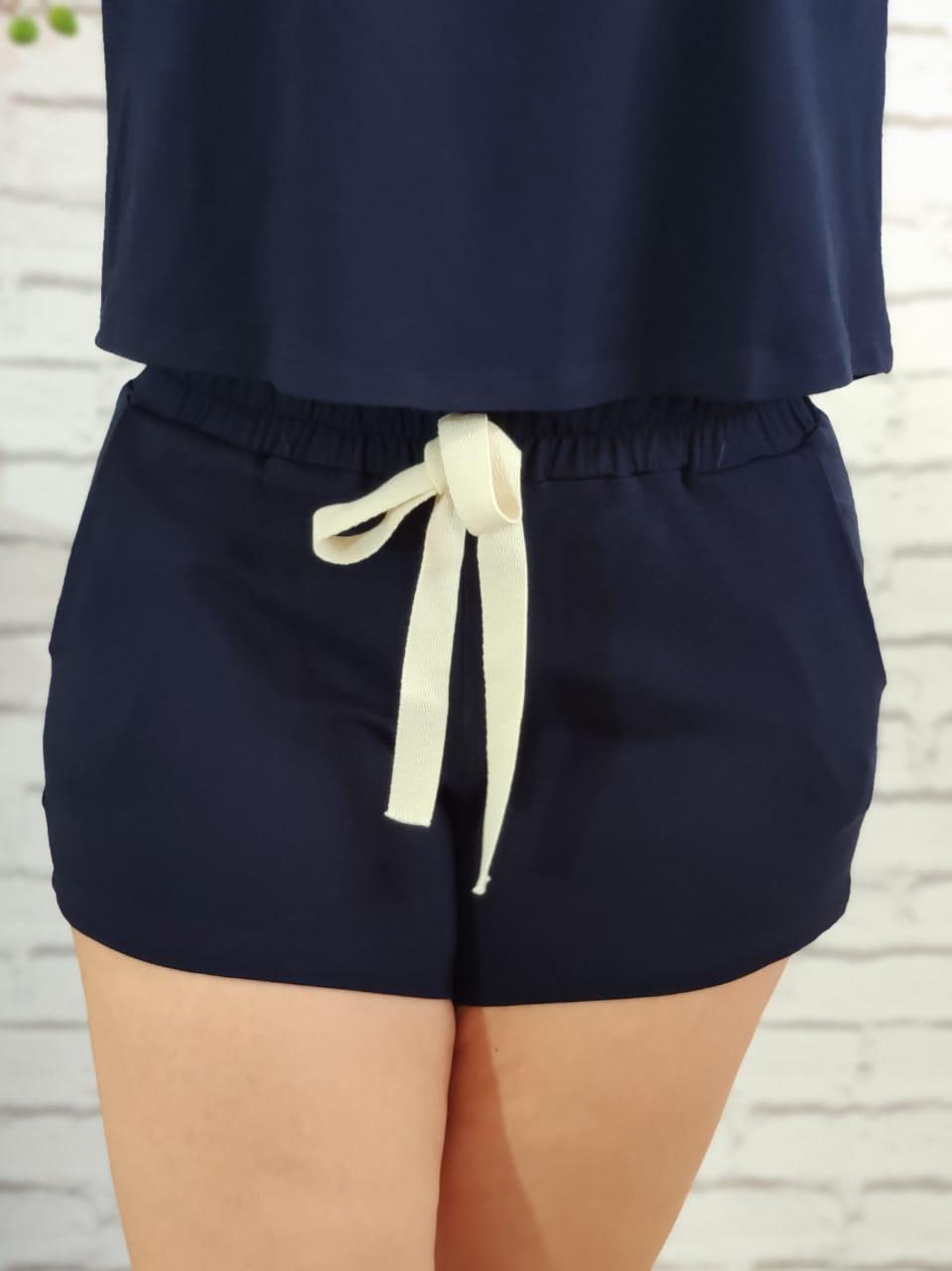 Shorts Conjunto Liso Marinho