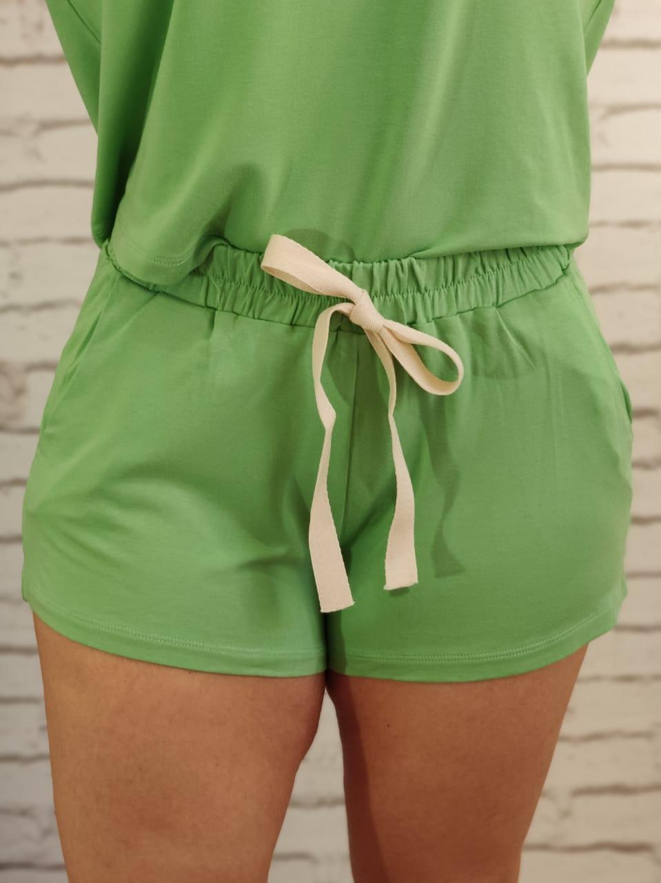 Shorts Conjunto Liso Verde