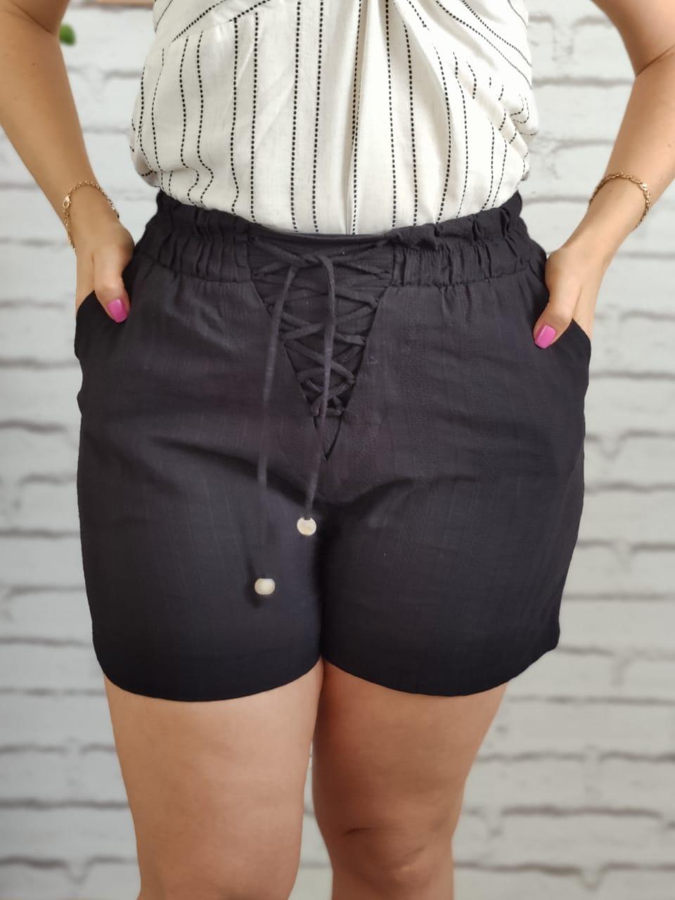 Shorts Cordão Preto