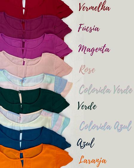 Você ganhou uma blusa incrível! Confira aqui as cores disponíveis para escolha (Apenas 1 presente por pedido).