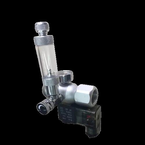 Regulador de CO2 (Manômetro+ContaBolhas+Solenoide)