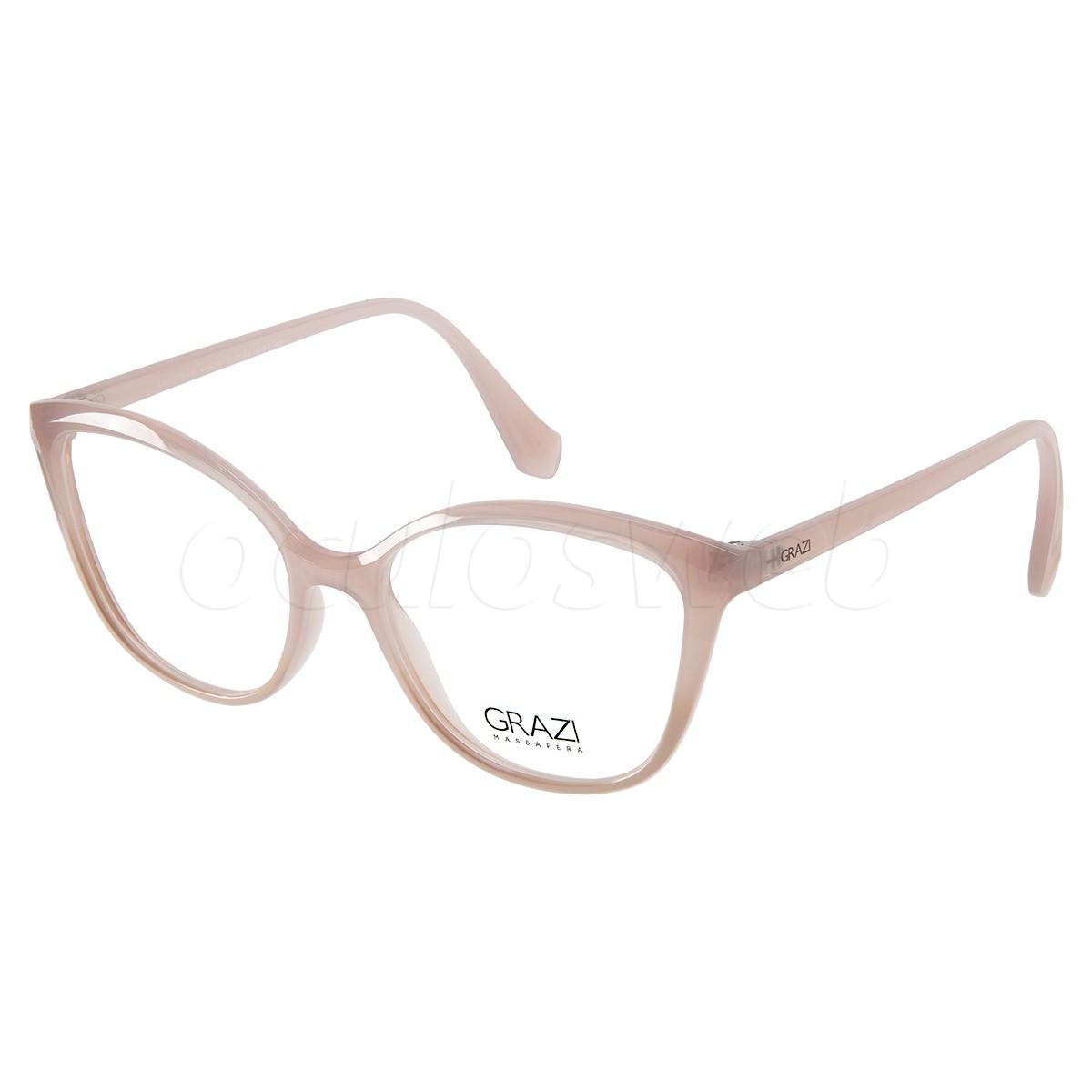 Armação de Grau Feminina Grazi Massafera GZ3079 Nude Brilho