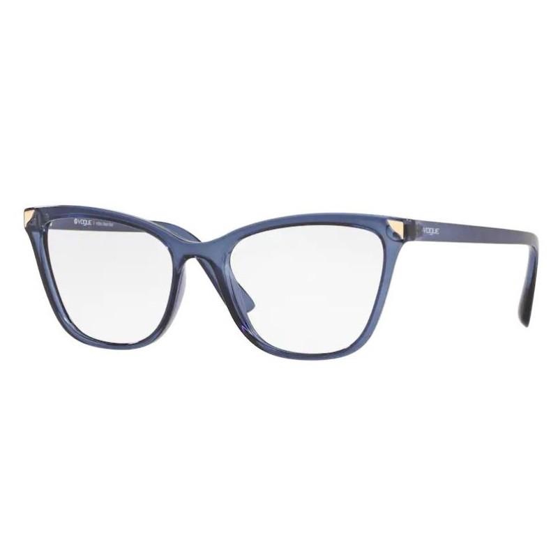 Armação de Grau Feminina Vogue VO5206L Gatinho Azul Translúcido