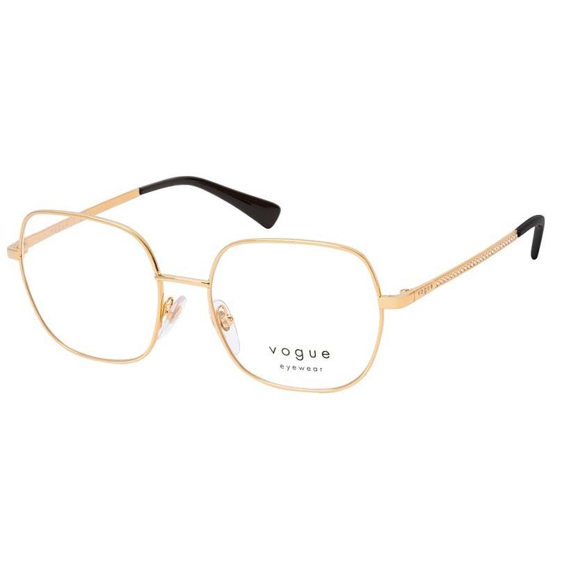 Armação de Grau Vogue Quadrada VO4181B Metal Dourado Tamanho 53
