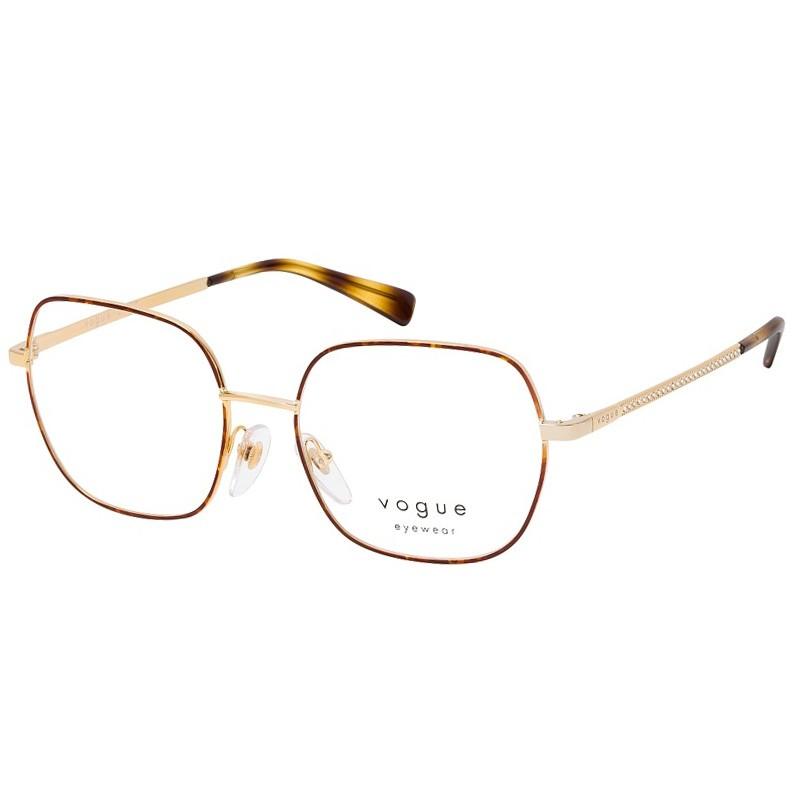 Armação de Grau Vogue VO4181B Metal Marrom com Dourado