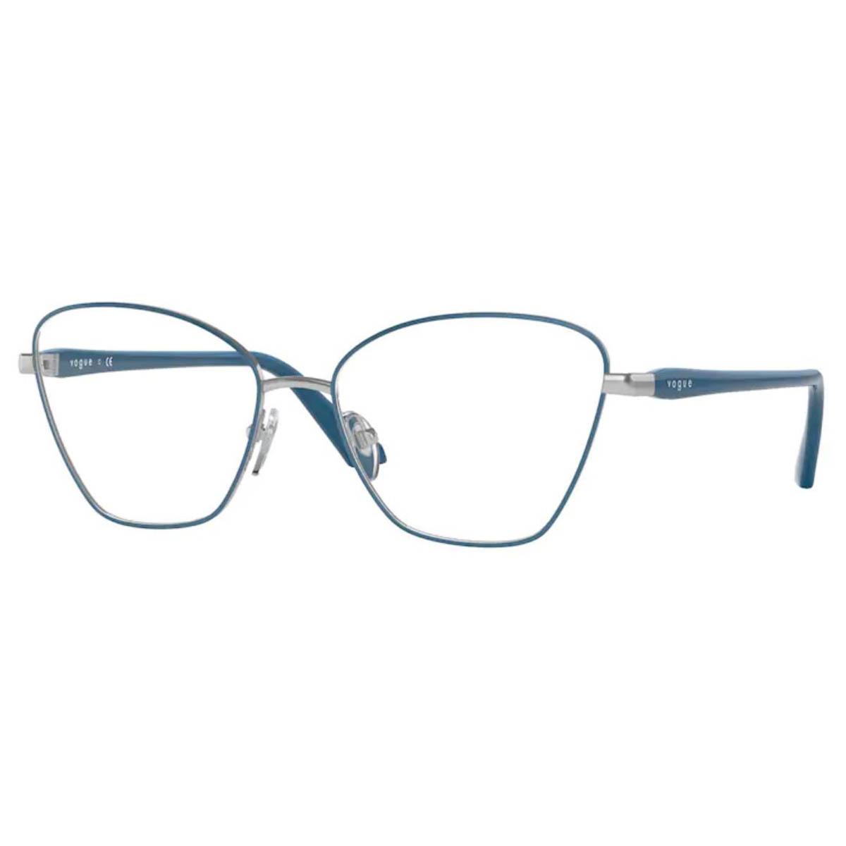 Armação de Grau Vogue VO4195 Metal Azul Brilho Gatinho