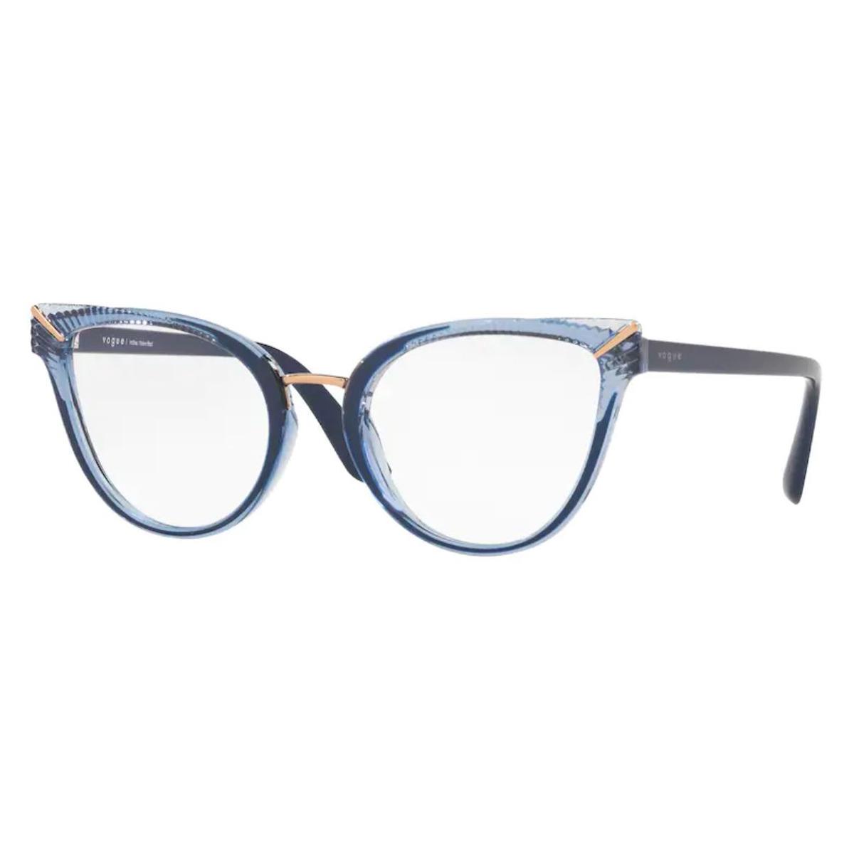 Armação de Grau Vogue VO5364L Azul Translúcido Tamanho 52
