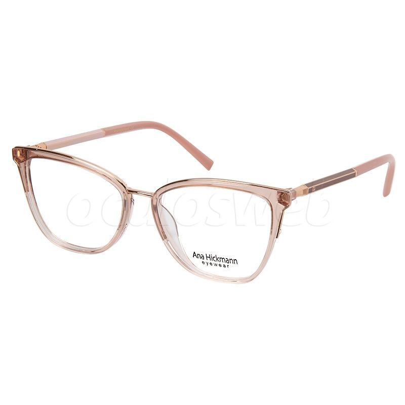 Armação de Óculos Ana Hickmann AH6392 Marrom Translúcido