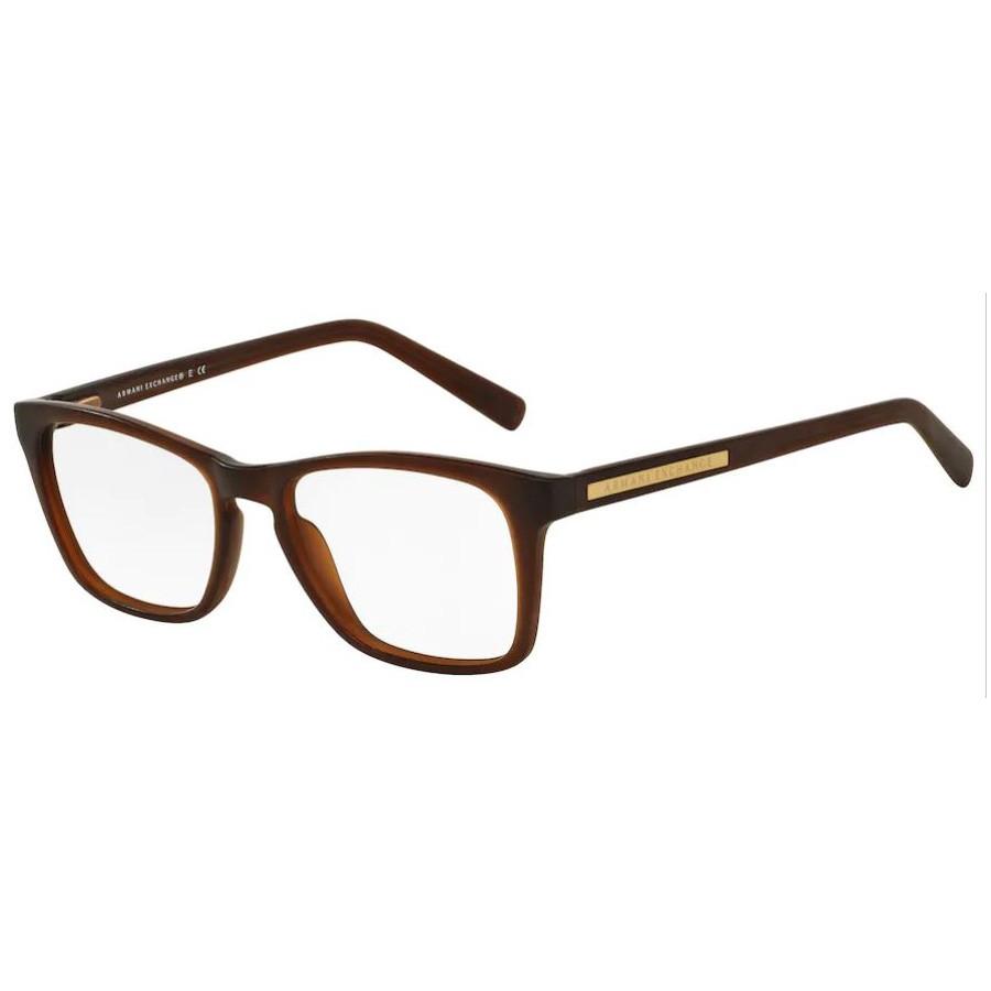 Armação de Óculos Armani Exchange AX3012L Marrom Fosco
