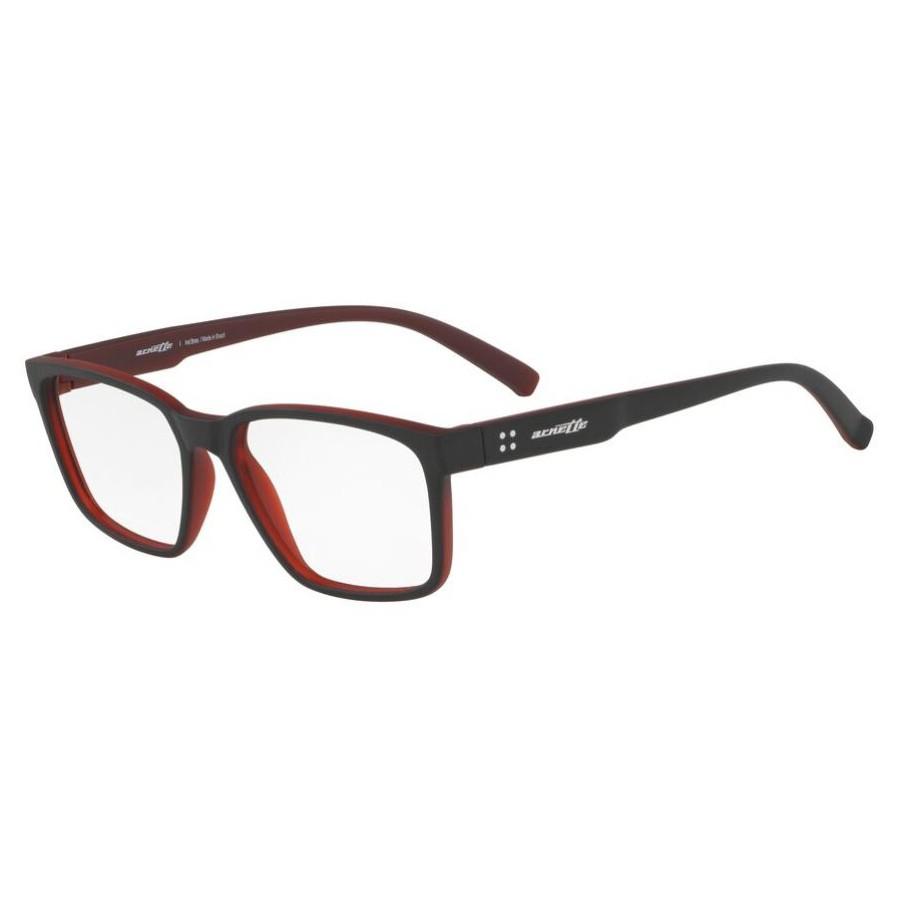 Armação de Óculos Arnette AN7166L Vermelho com Preto Fosco