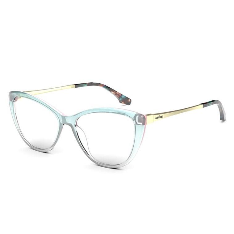 Armação de Óculos Colcci Agatha RX C6147 Azul Degradê Transparente