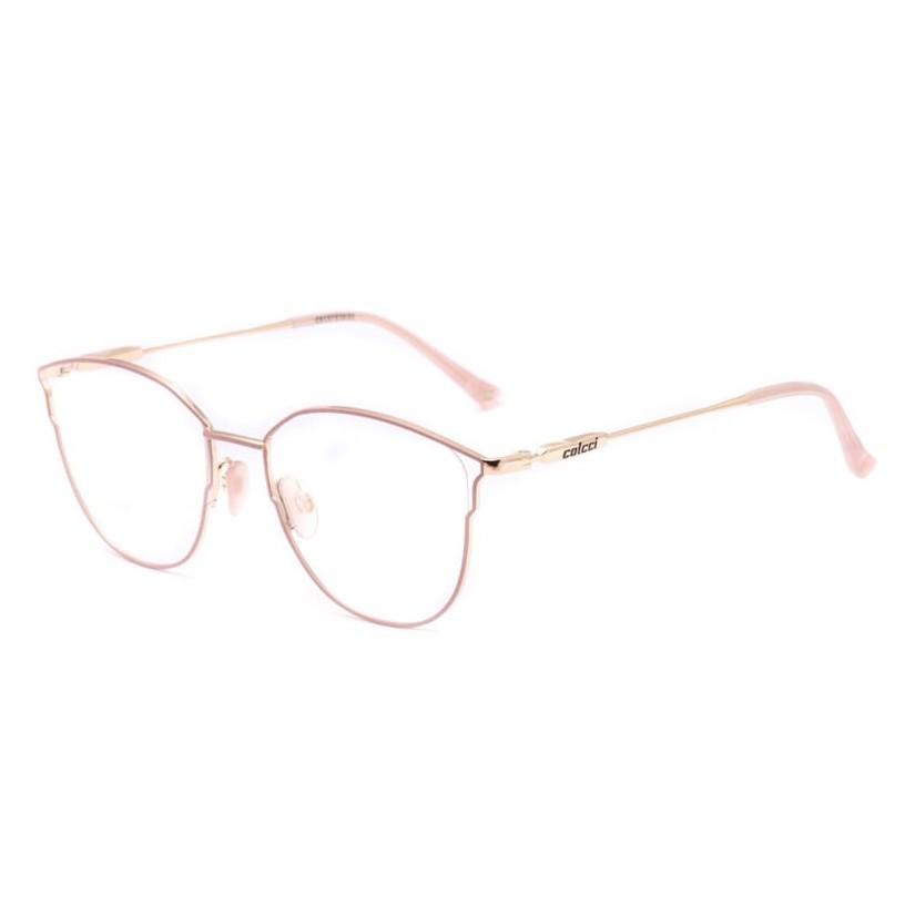 Armação de Óculos Colcci C6137 Metal Rosa com Dourado Brilho
