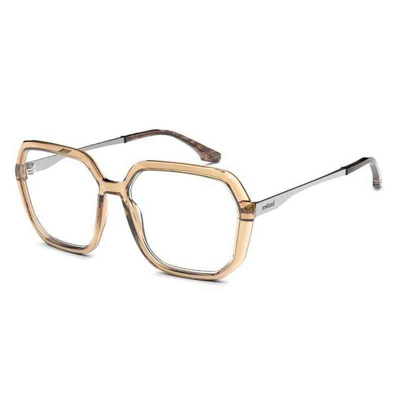 Armação de Óculos Colcci Hexagonal Grande C6127 Marrom Brilho