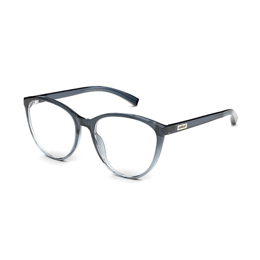 Armação de Óculos Colcci Kim RX C6146 Redondo Azul Translúcido
