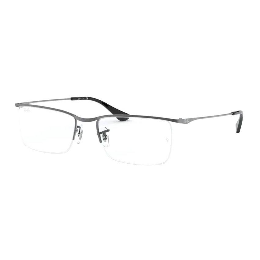 Armação de Óculos de Grau Masculino Ray Ban RX6370 Prata Metal