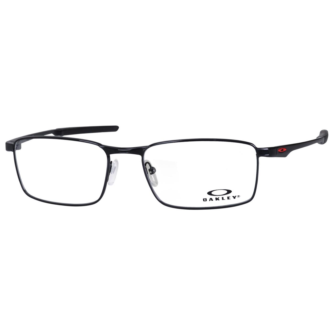 Armação de Óculos de Grau Oakley Fuller OX3227 Metal Preto Brilho