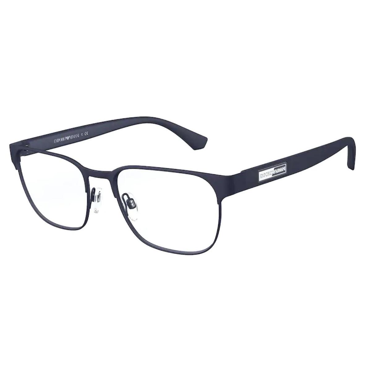 Armação de Óculos Empório Armani EA1103 Metal Azul Fosco