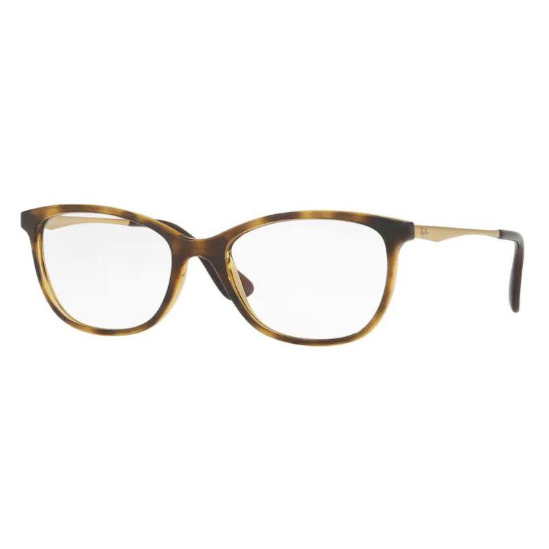 Armação de Óculos Feminina Ray Ban Acetato Marrom Demi RX7106L