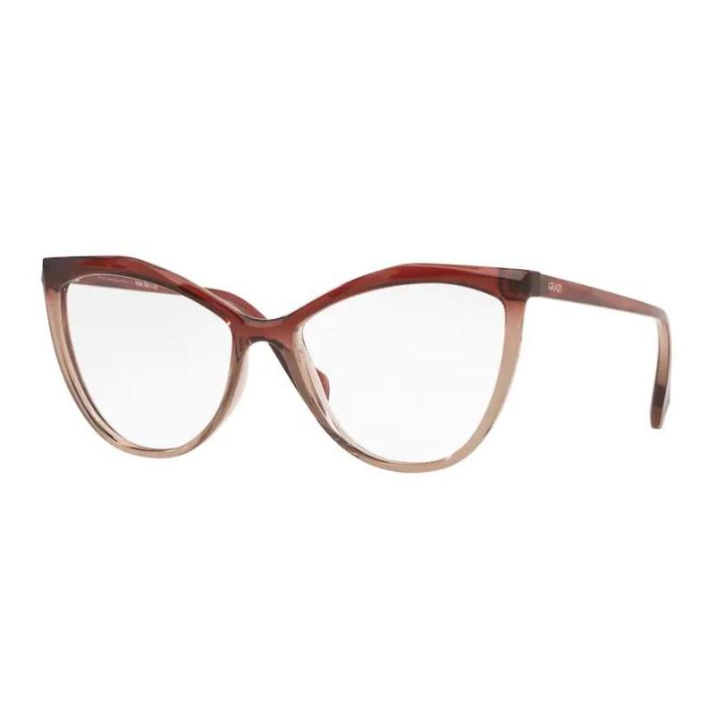 Armação de Óculos Grazi Gatinho GZ3078 Marrom Brilho Degradê