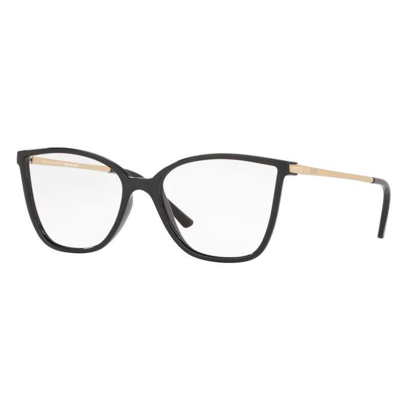 Armação de Óculos Grazi GZ3067 Preto Brilho com Dourado
