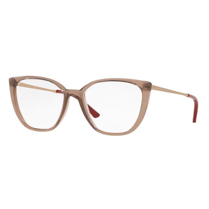 Armação de Óculos Grazi GZ3077 Marrom Translúcido Brilho