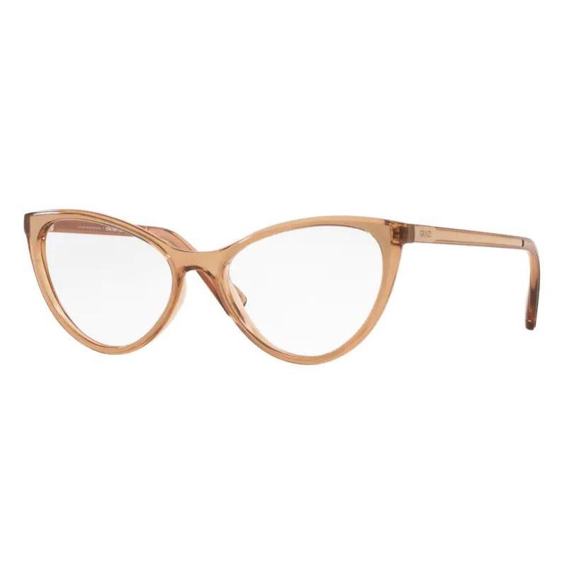 Armação de Óculos Grazi Massafera GZ3073 Gatinho Marrom Brilho