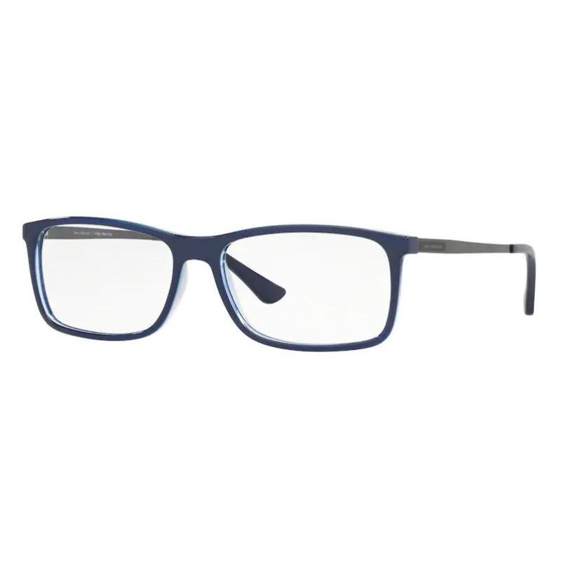 Armação de Óculos Jean Monnier J83180 Azul Brilho Tamanho 56