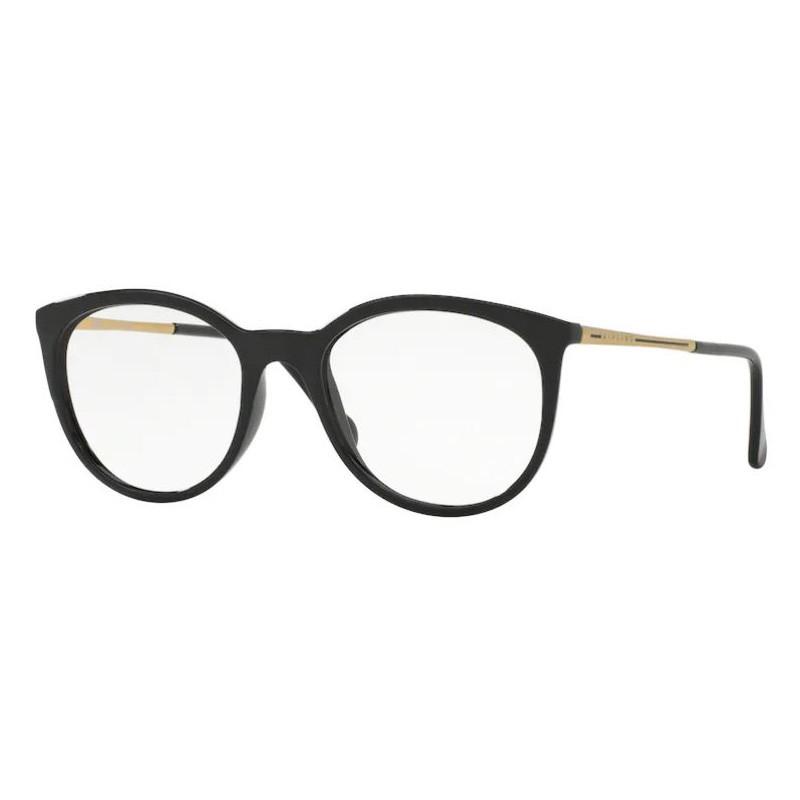 Armação de Óculos Kipling KP3078 Redondo Preto Brilho com Dourado