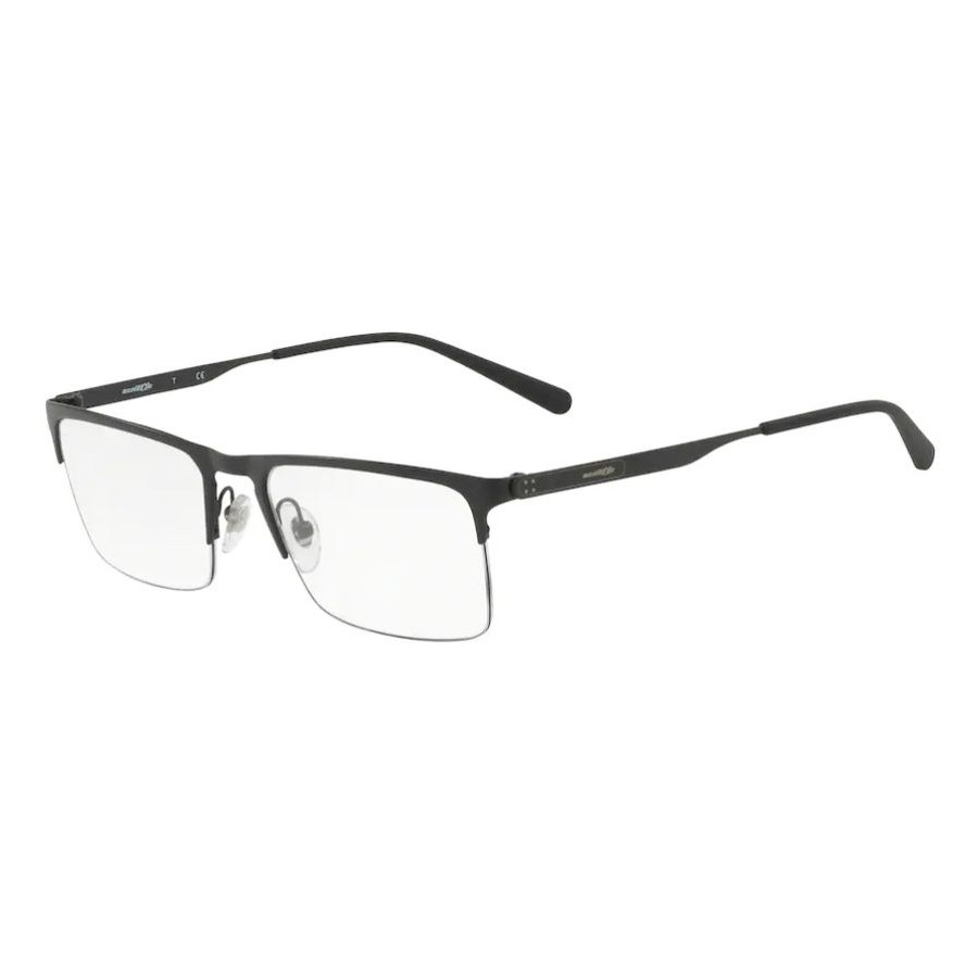 Armação de Óculos Masculina Arnette Tail AN6118 Metal Preto Fosco