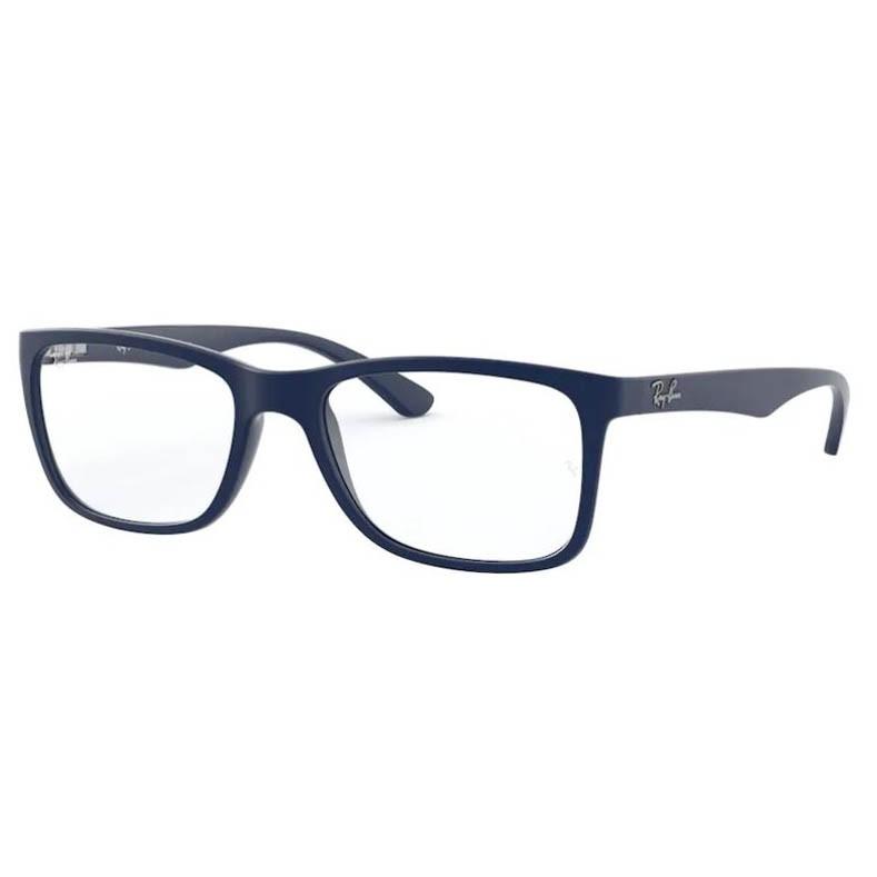 Armação de Óculos Masculino Ray Ban RX7027L Azul Marinho Fosco