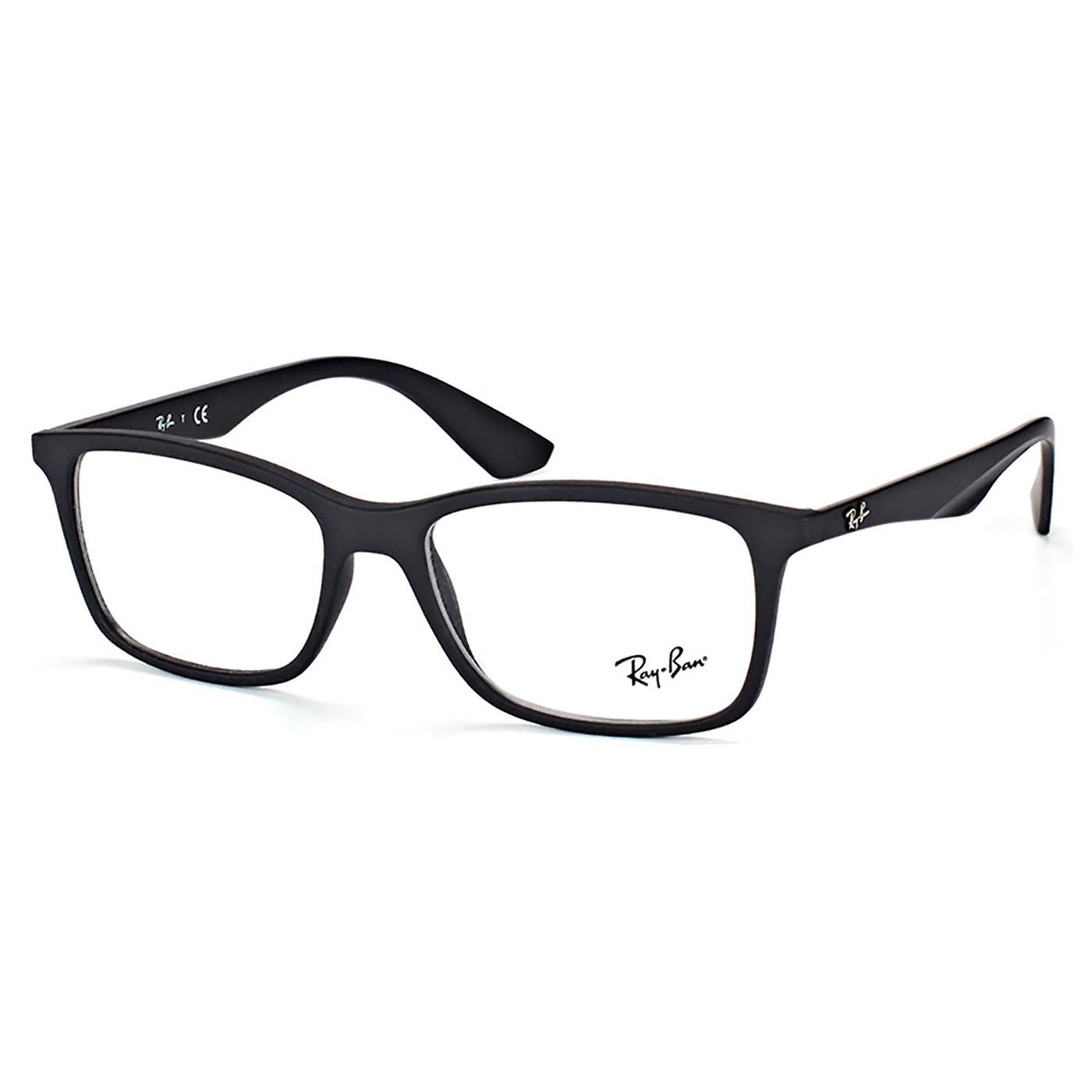 Armação de Óculos Masculino Ray Ban RX7047L Preto Fosco