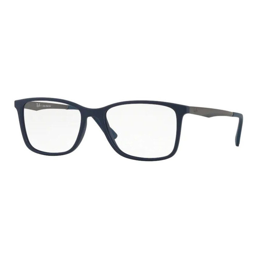 Armação de Óculos Masculino Ray Ban RX7133L Azul Marinho Fosco