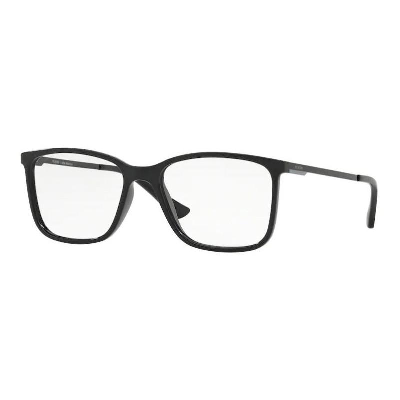 Armação de Óculos Platini P93149 Quadrado Preto Brilho