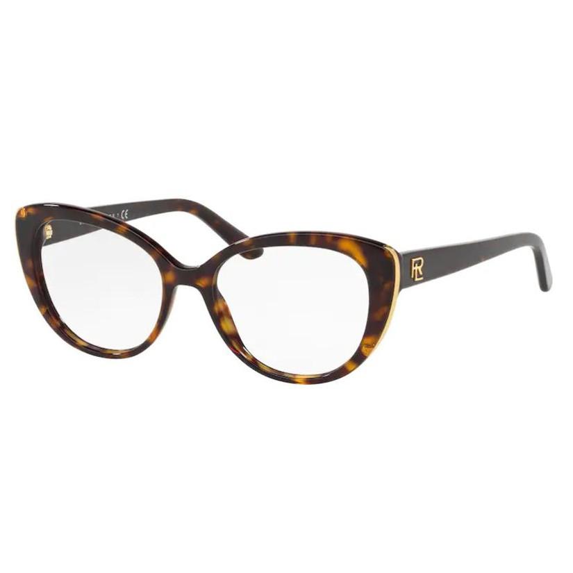 Armação de Óculos Ralph Lauren RL6172 Marrom Havana Brilho