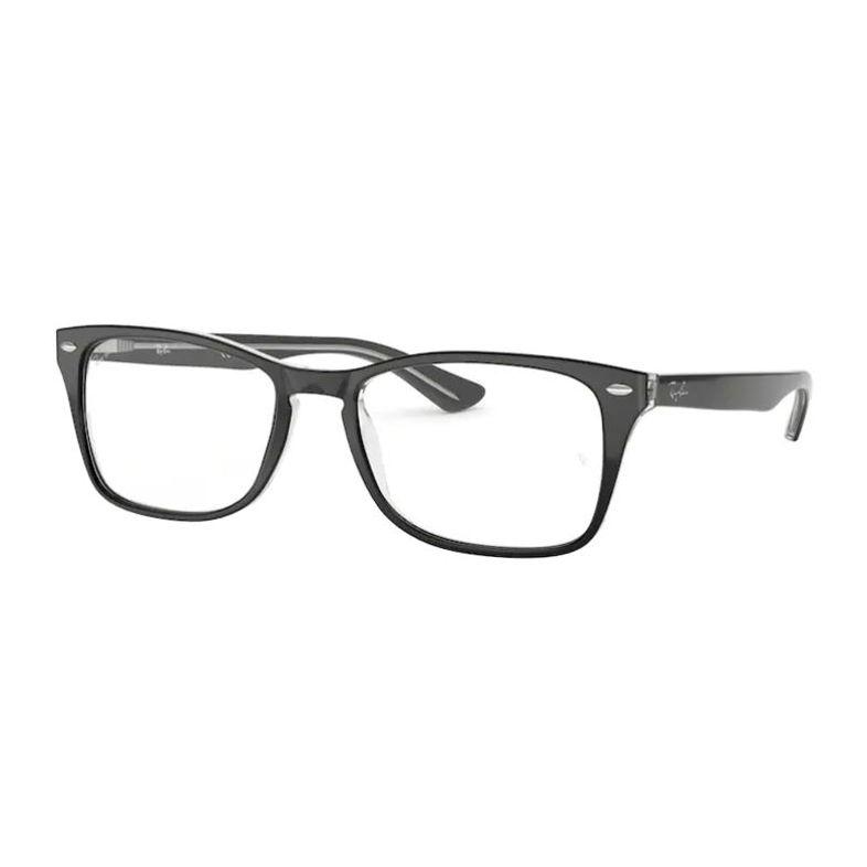 Armação de Óculos Ray Ban Grande RX5228M Preto com Transparente
