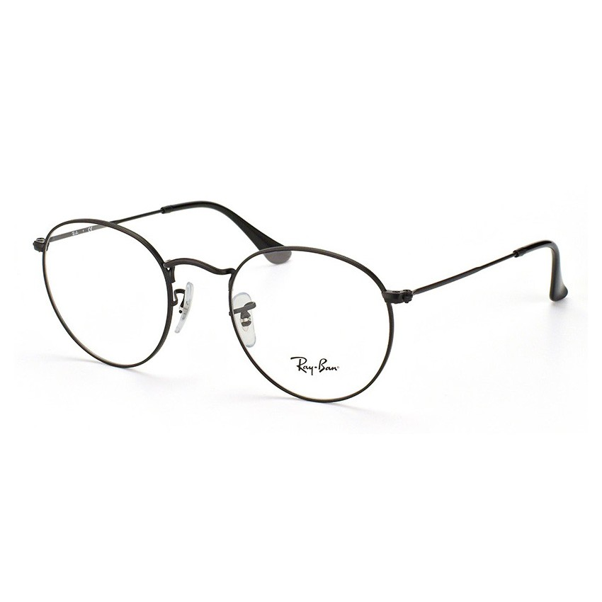 Armação de Óculos Ray Ban Round Metal RX3447VL Preto Fosco