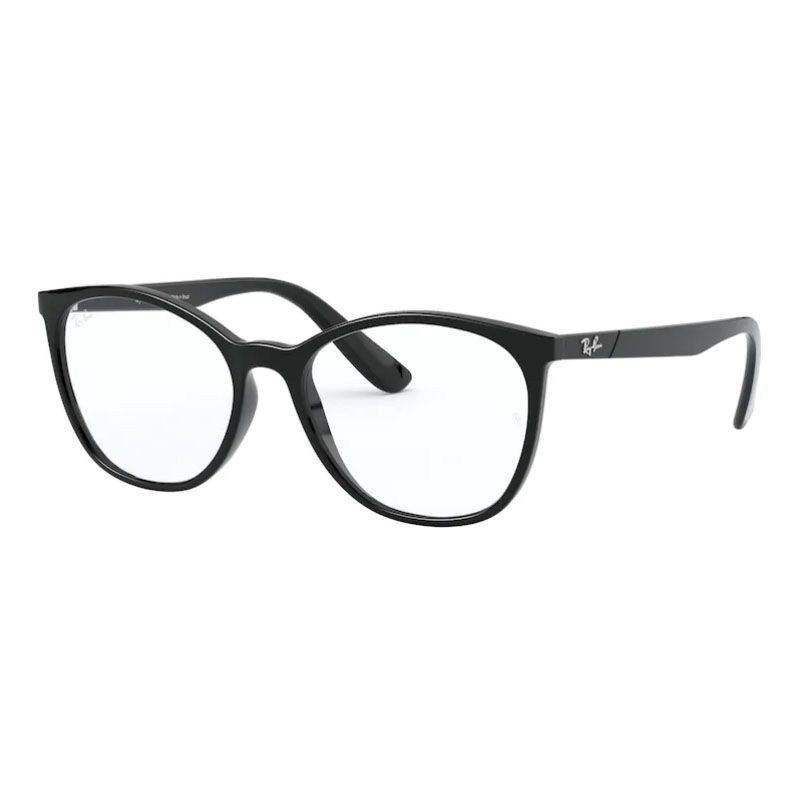 Armação de Óculos Ray Ban RX7161L Feminino Preto Brilho