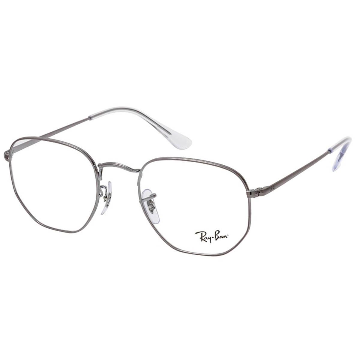 Armação de Óculos RayBan Hexagonal RX6448L Prata Brilho