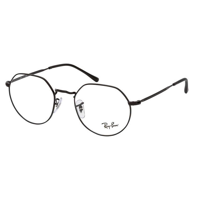 Armação de Óculos RayBan Jack RX6465L Metal Preto Brilho