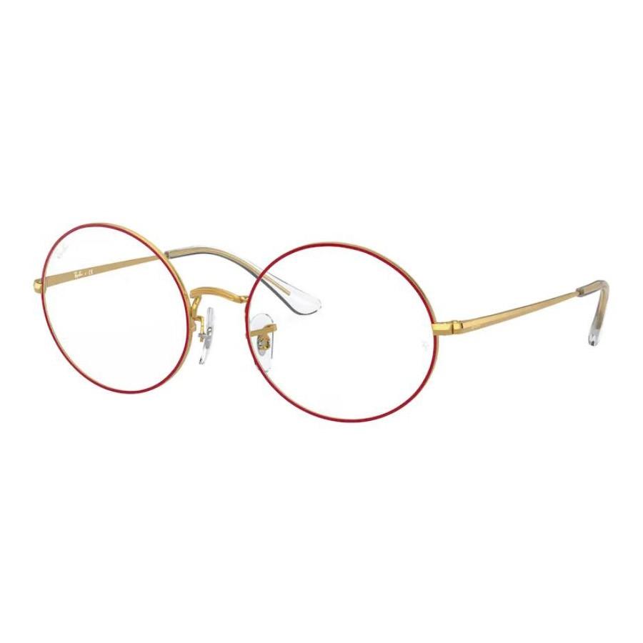 Armação de Óculos RayBan RX1970V Vermelho com Dourado Legend