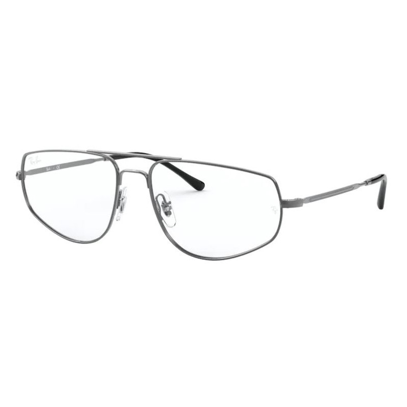 Armação de Óculos RayBan RX6455 Metal Prata Brilho