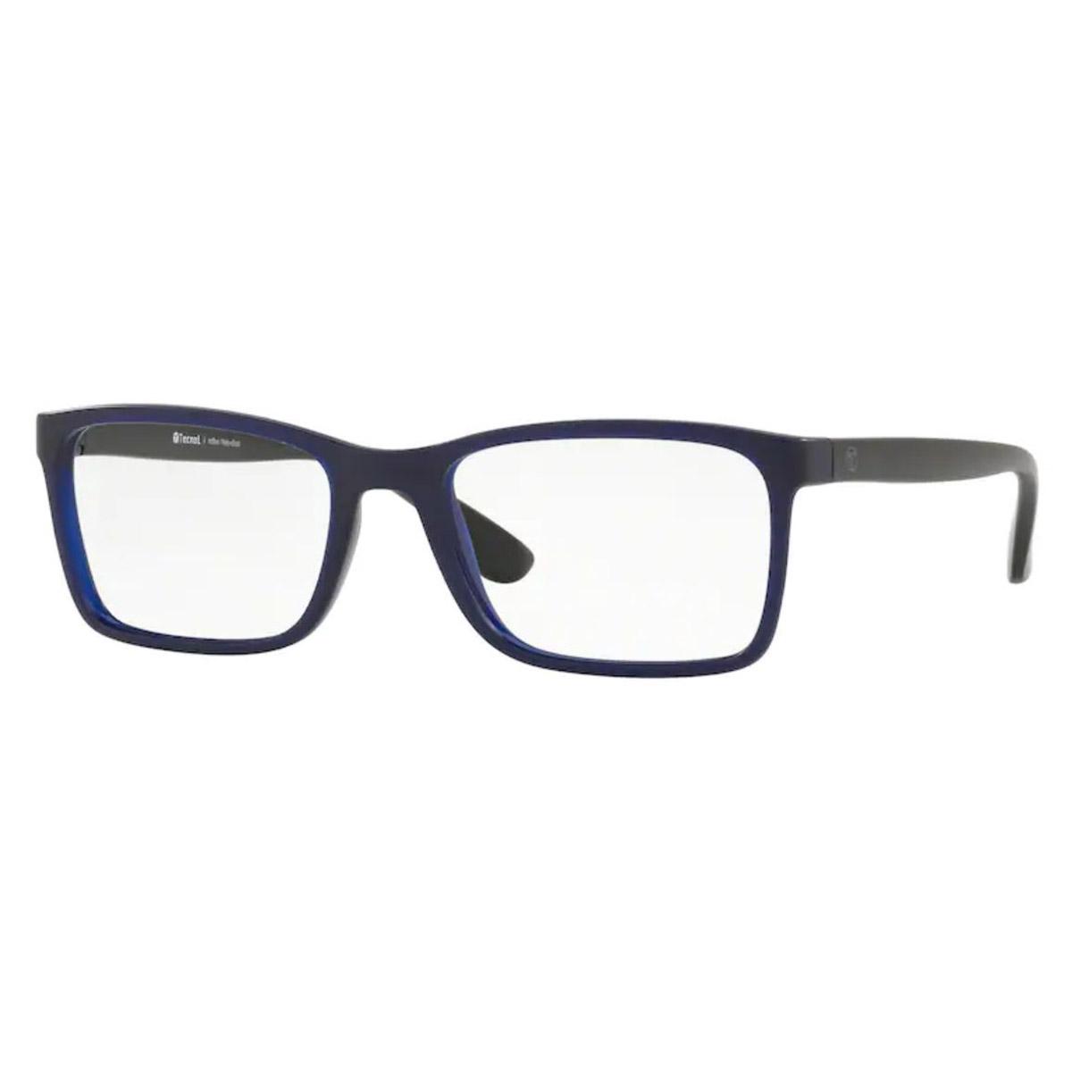Armação de Óculos Tecnol TN3056 Azul com Preto Fosco